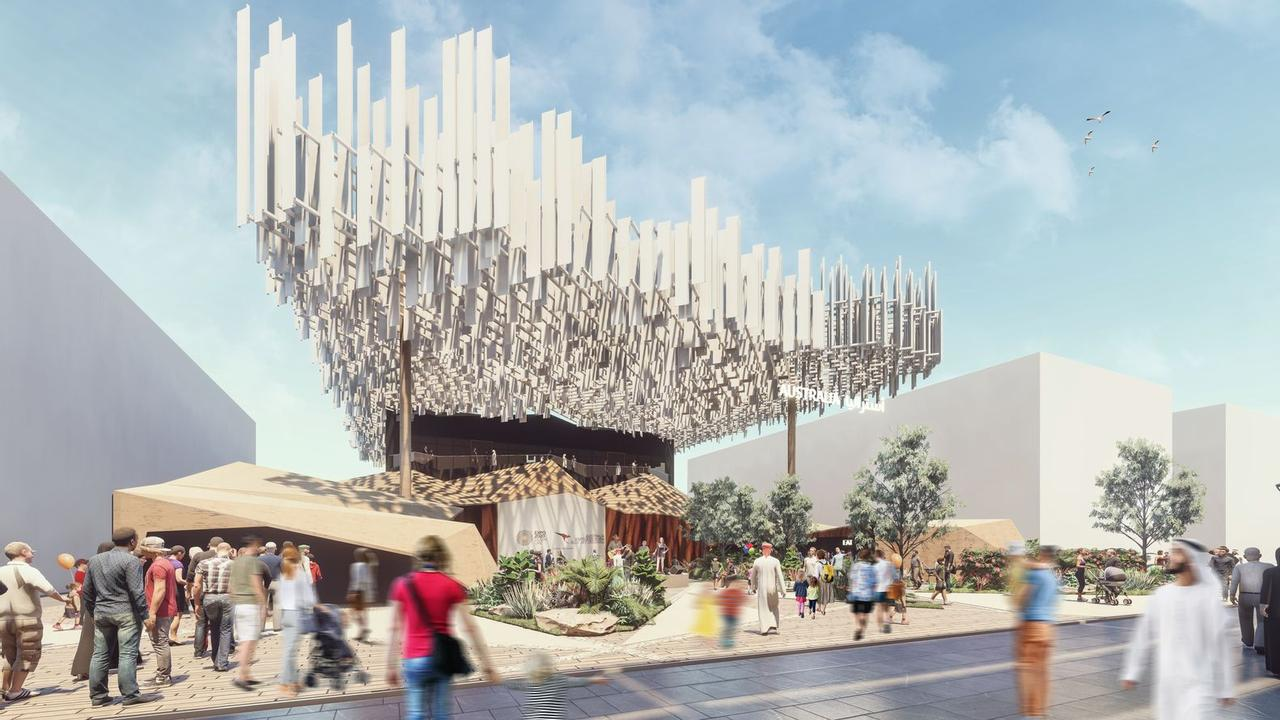 Парящий австралийский павильон-облако в рамках Expo 2020 Dubai передает аутентичность и красоту страны