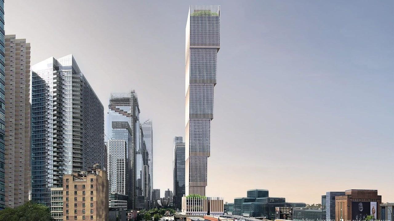 Ступенчатая башня «вверх дном» компании Adjaye Associates станет третьим зданием по высоте в Нью-Йорке