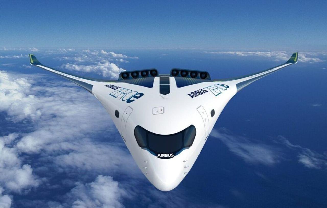 Airbus разрабатывает экологически чистые самолеты на водородном топливе, включая концепцию смешанного крыла