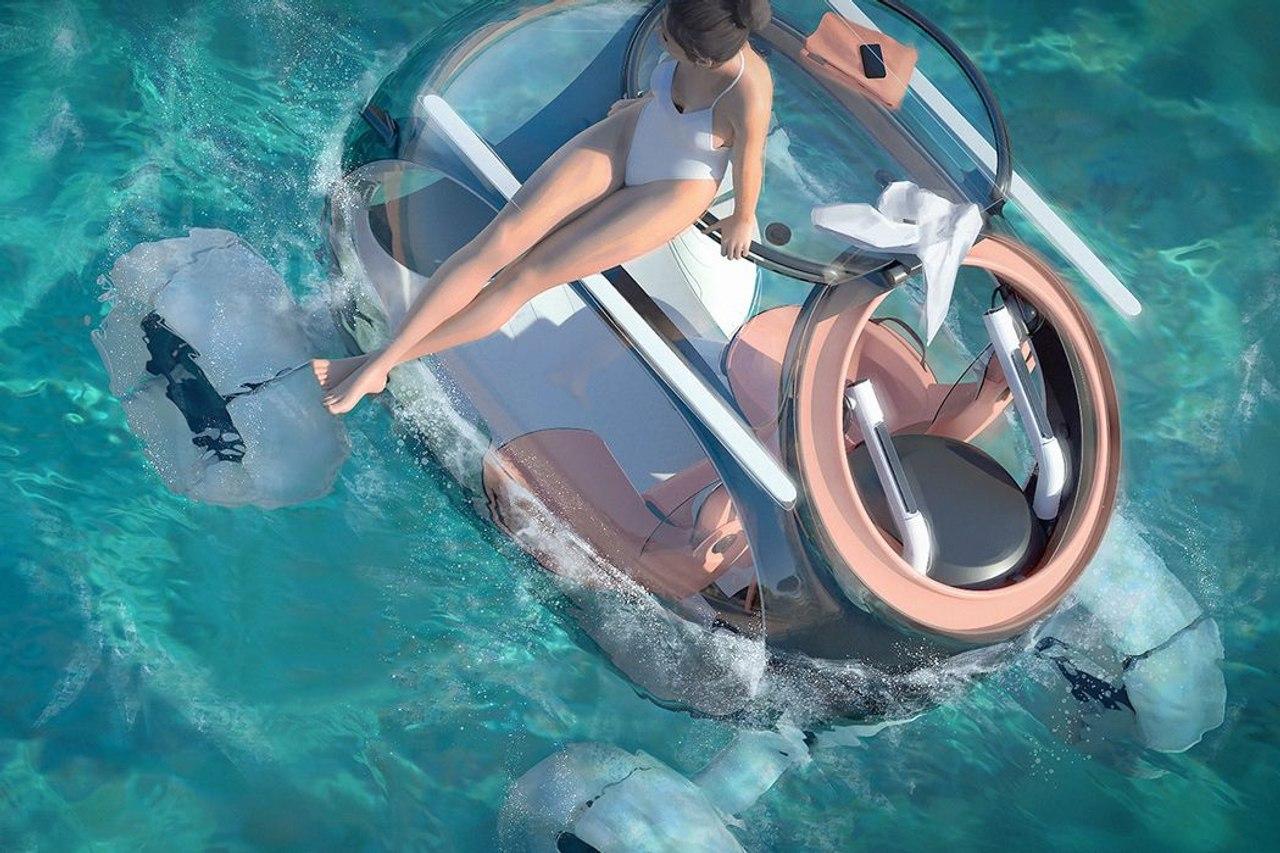 Audi X вездеход - амфибия для путешествий может передвигаться по суше и воде