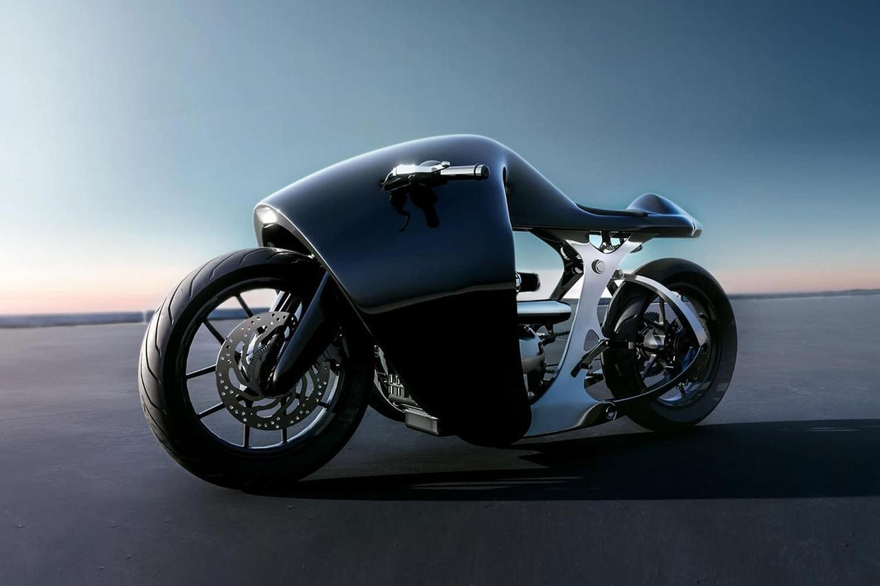 Футуристический мотоцикл Bandit9 Supermarine привлекает внимание своим дизайном