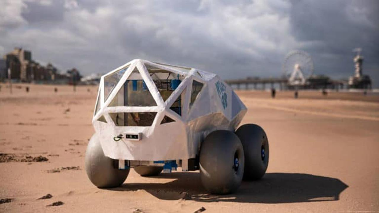 Робот BeachBot, с искусственным интеллектом, будет самостоятельно убирать пляжи