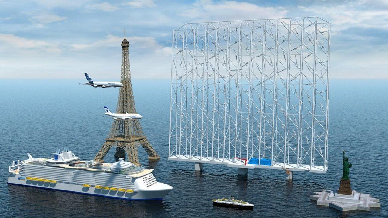 324 метровые, многороторные, плавающие ветряные станции обеспечат электричеством более 80 000 домов каждая