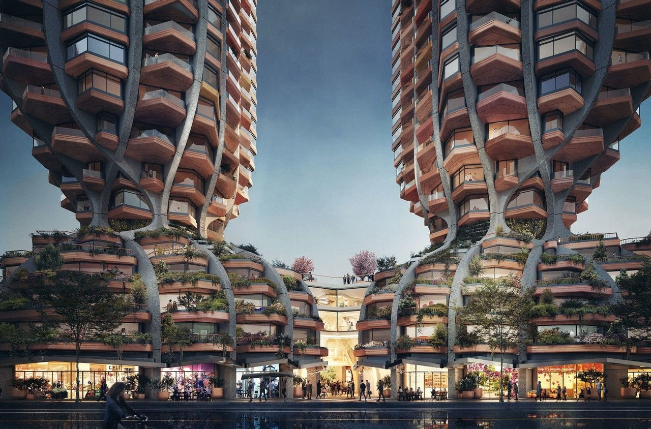 Heatherwick Studio представила проект небоскреба для Канады «кукурузные початки»