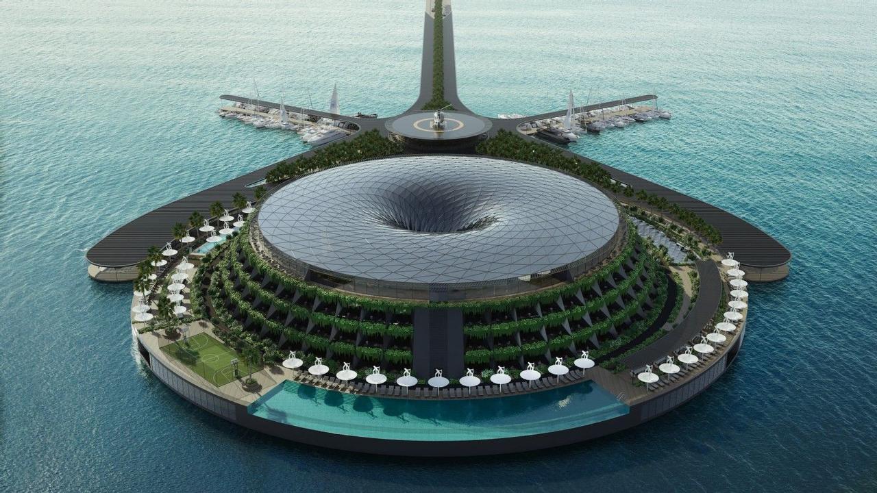 Eco-Floating Hotel - плавучий отель, амбициозный взгляд на экологичный дизайн