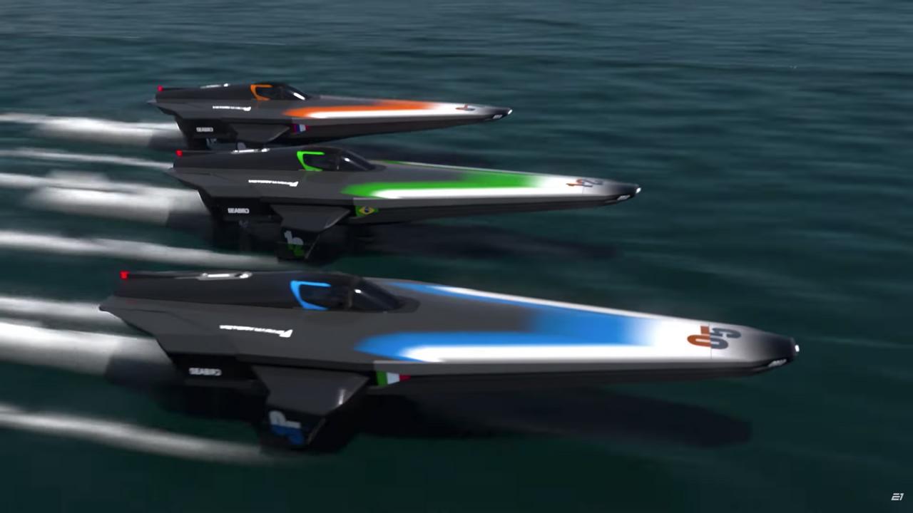 Для первого в мире чемпионата на электрических моторных лодках создадут катер на подводных крыльях RaceBird