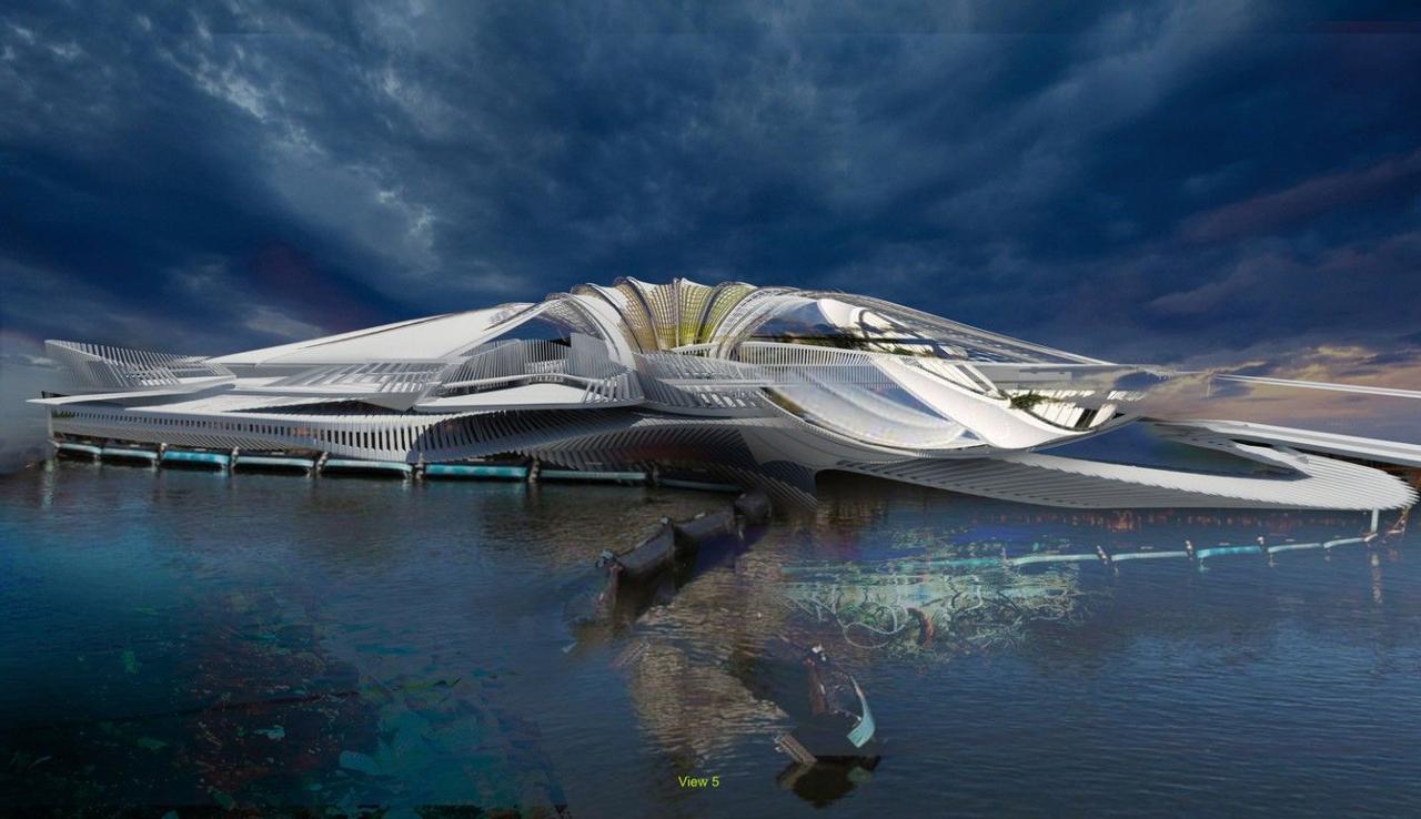 Дизайнер предлагает построить в океане эко-курорт на кучах мусора
