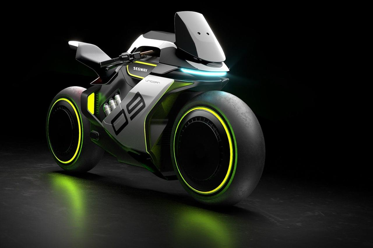 Segway представил футуристический мотоцикл Apex H2 с водородным двигателем