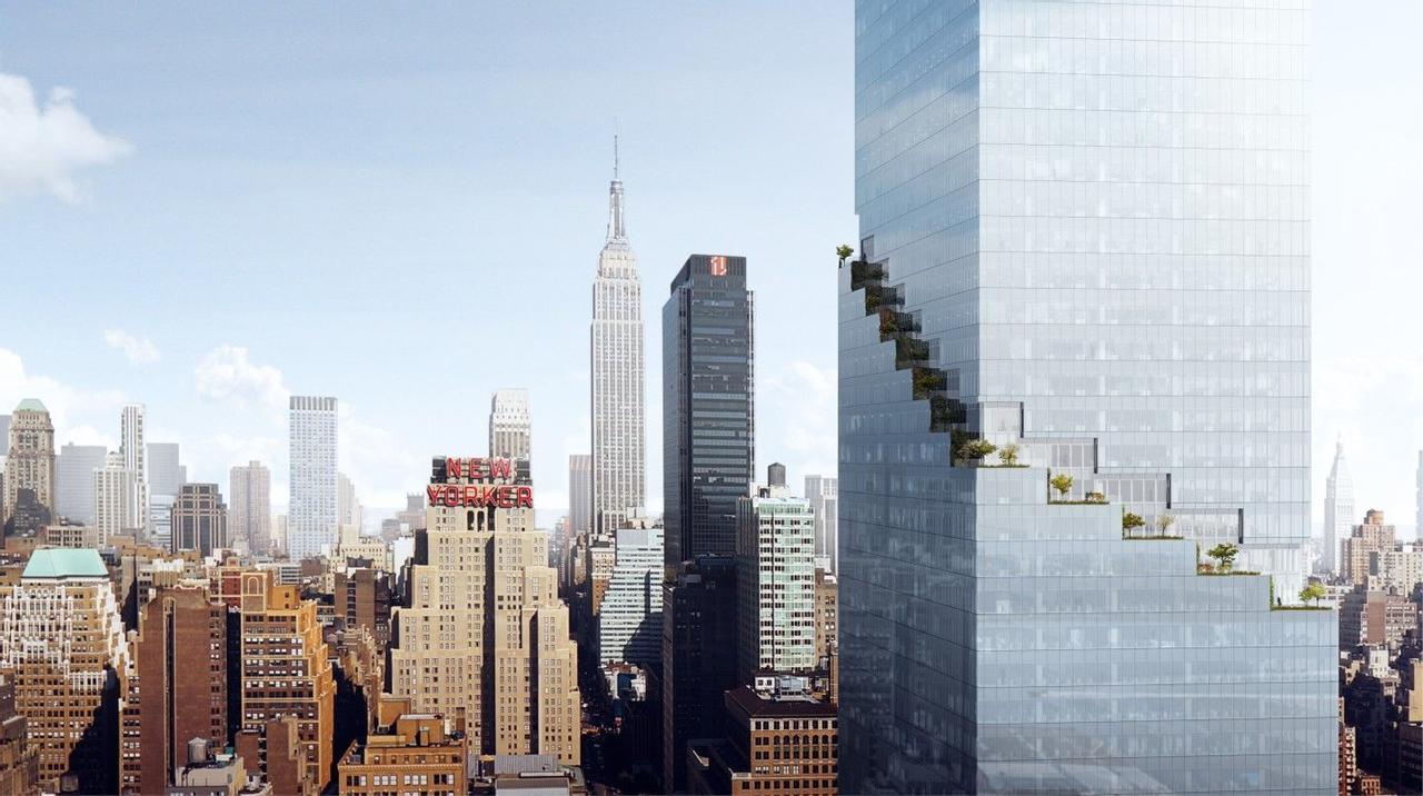 Ступенчатый супервысокий небоскреб BIG образует зеленые террасы в небе, бюджет строительства 3,7 миллиарда долларов