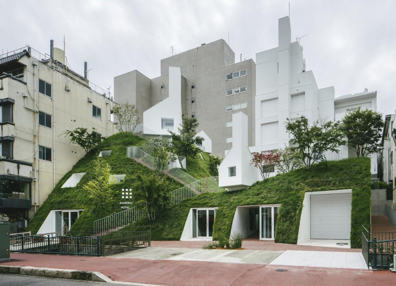Старый отель превратили в современный оазис с зелеными холмами