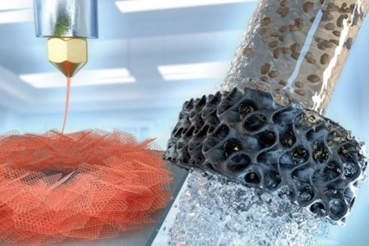 Графеновый аэрогель, напечатанный на 3D-принтере, создает эффективный фильтр для воды