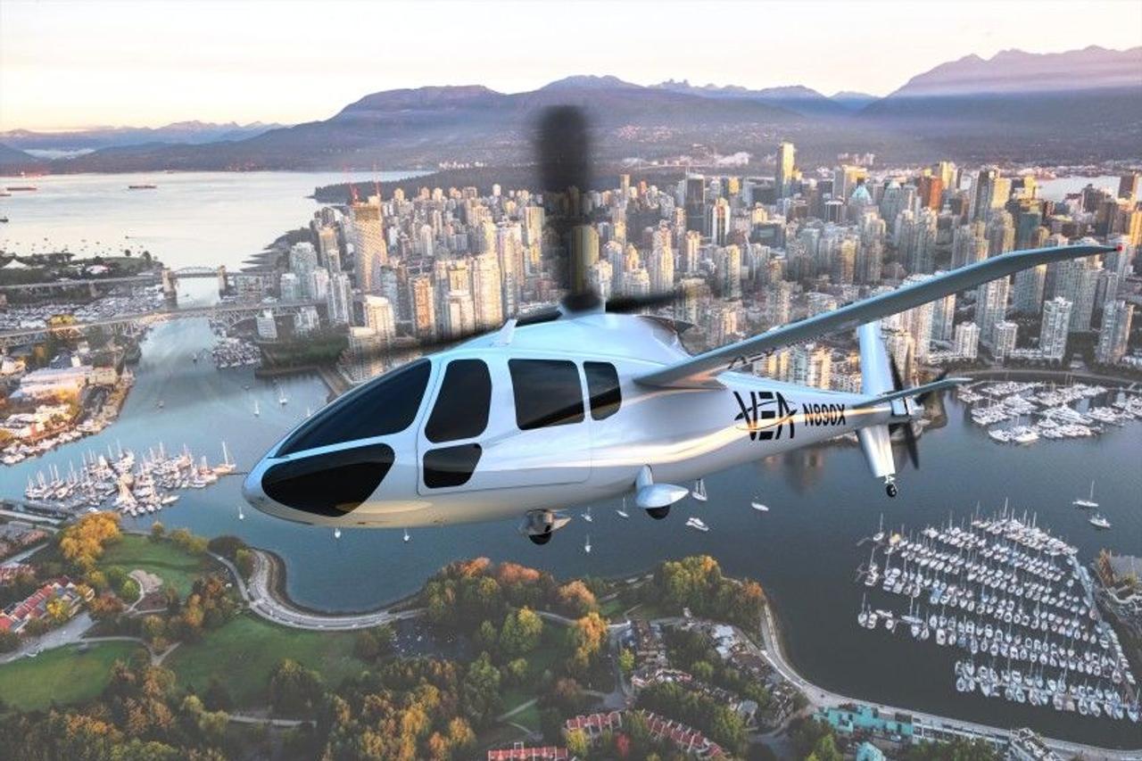 Piasecki - первый в мире водородно-электрический вертолет с широкими крыльями
