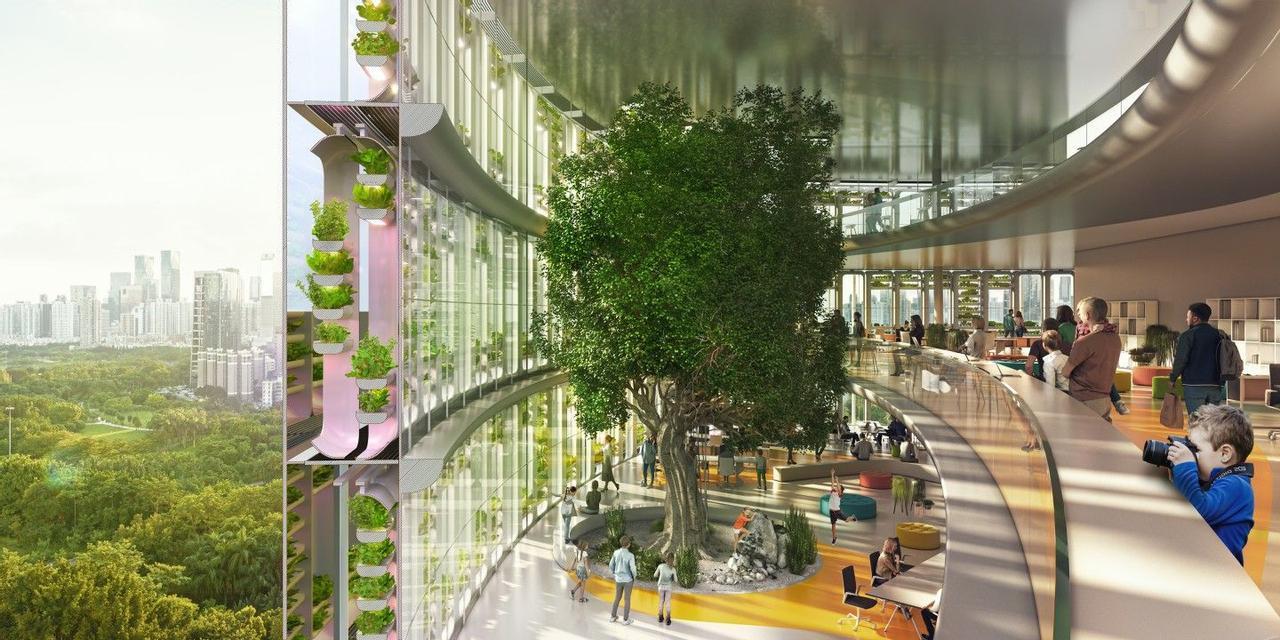 Уникальный небоскреб «Farmscraper» совместит офисный центр с гидропонной фермой
