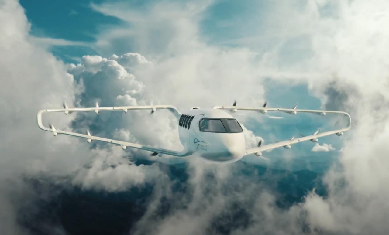 Craft Aero предлагает новый тип аэротакси eVTOL с двойными крыльями и дальностью полета до 1 609 км