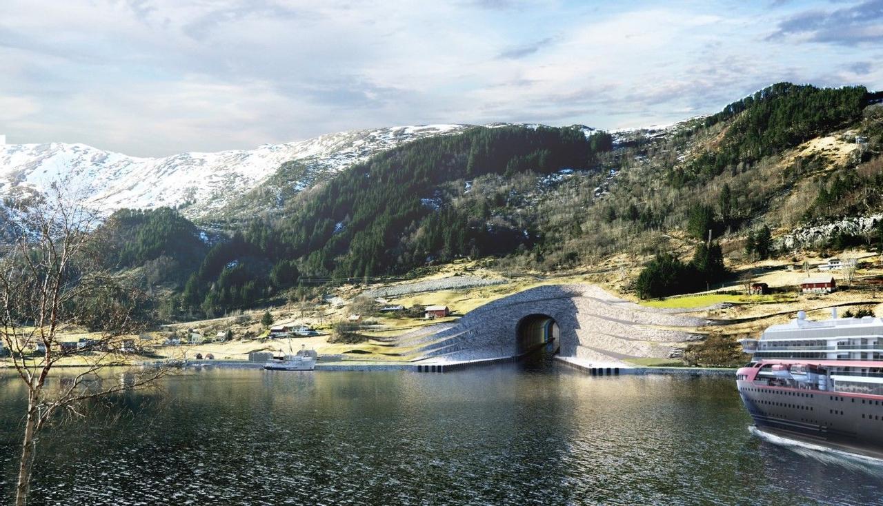 В Норвегии началась реализация первого в мире «полномасштабного» туннеля для кораблей, Stad Ship Tunnel