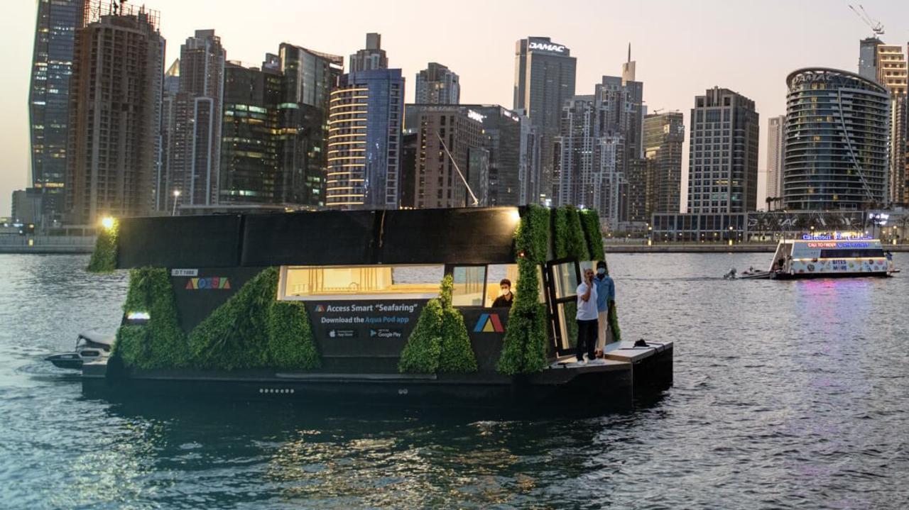 AP EX 1 - полностью автономная плавающая гостиница, которая может похвастаться расширяемой конструкцией