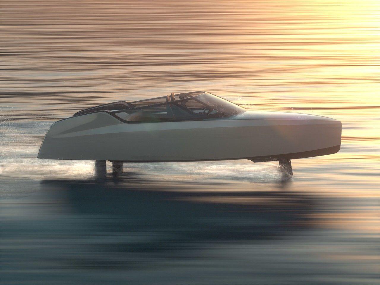 Электрический катер Edorado 8S на подводных крыльях сможет развивать скорость до 70 км/ч