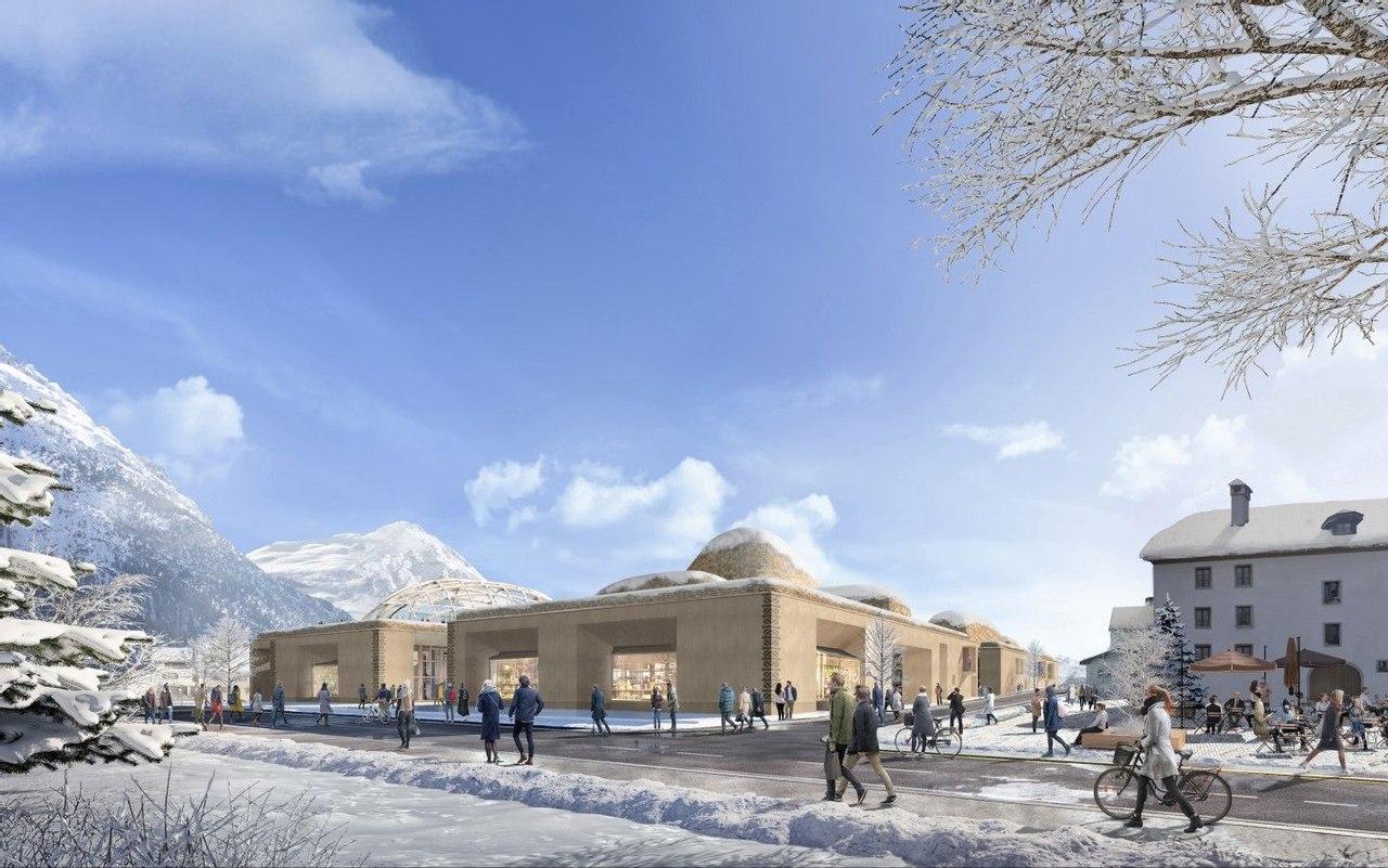 Центр энергоэффективных инноваций в Швейцарии, вдохновлен альпийским ландшафтом
