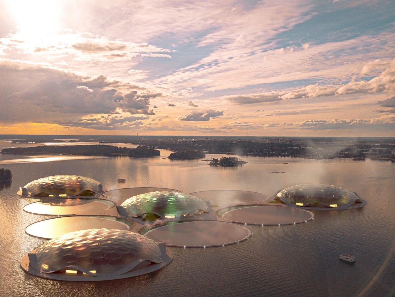 Искусственные «острова» Hot Heart обеспечат Хельсинки постоянным теплом и станут отличным курортом во время суровой зимы