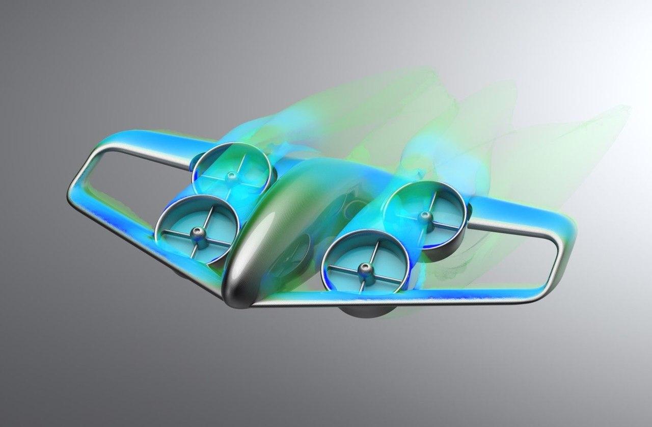 Skybus - концепт воздушного транспорта с электрическим вертикальным взлетом и посадкой, способный перевозить до 50 пассажиров