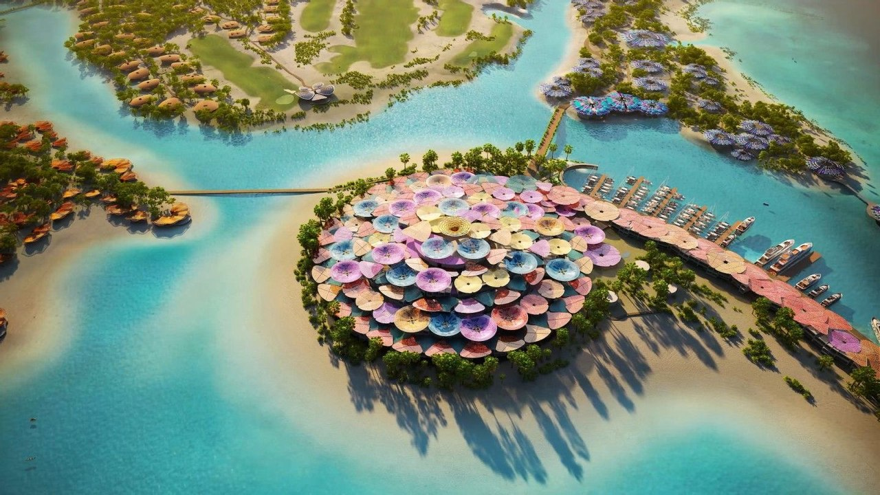 В Саудовской Аравии вскоре появится новый роскошный эко - курорт, райский остров Coral Bloom