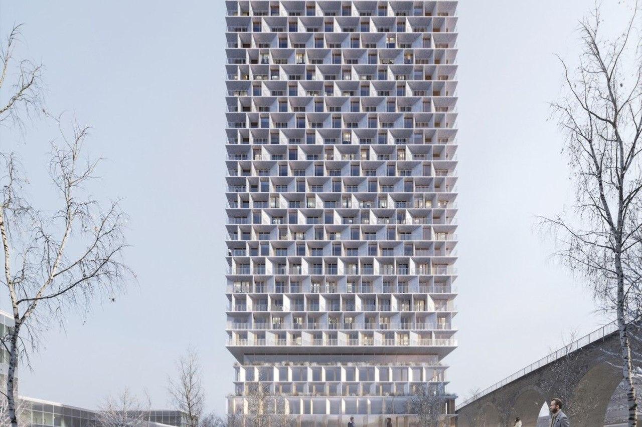 В Швейцарии вскоре появится новый энергоэффективный деревянный небоскреб Tilia Tower высотой 85 м