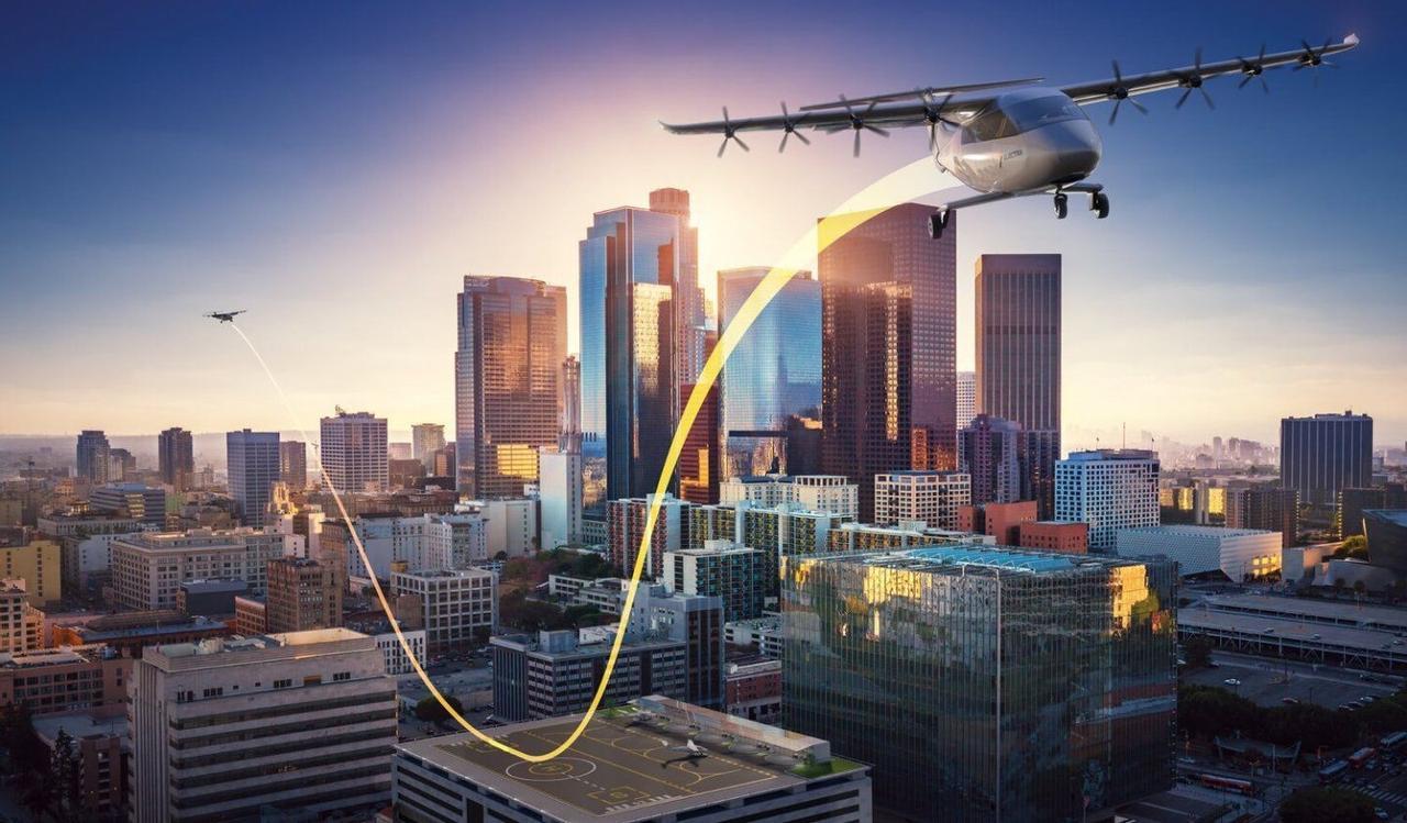 Гибридно-электрический самолет Electra сможет перевозить до семи пассажиров и приземлятся на крыши зданий