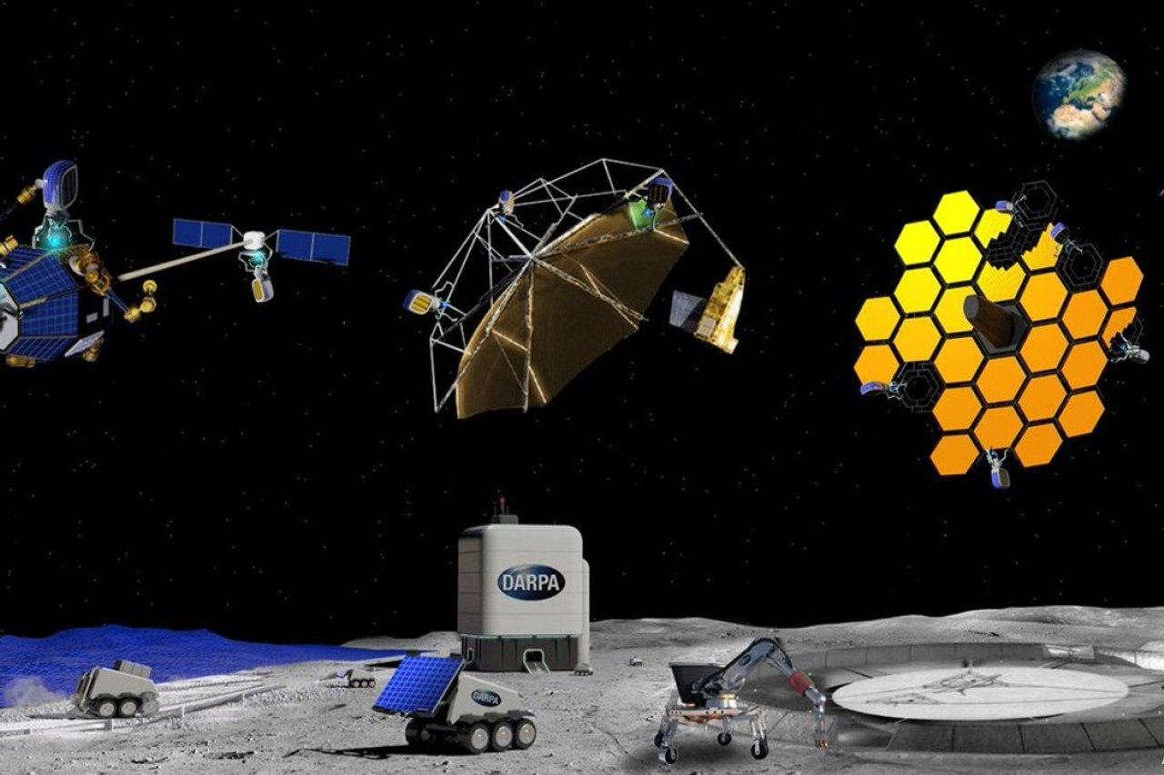 DARPA ищет предложения по разработке конструкций и материалов для строительства крупных сооружений на орбите и на Луне