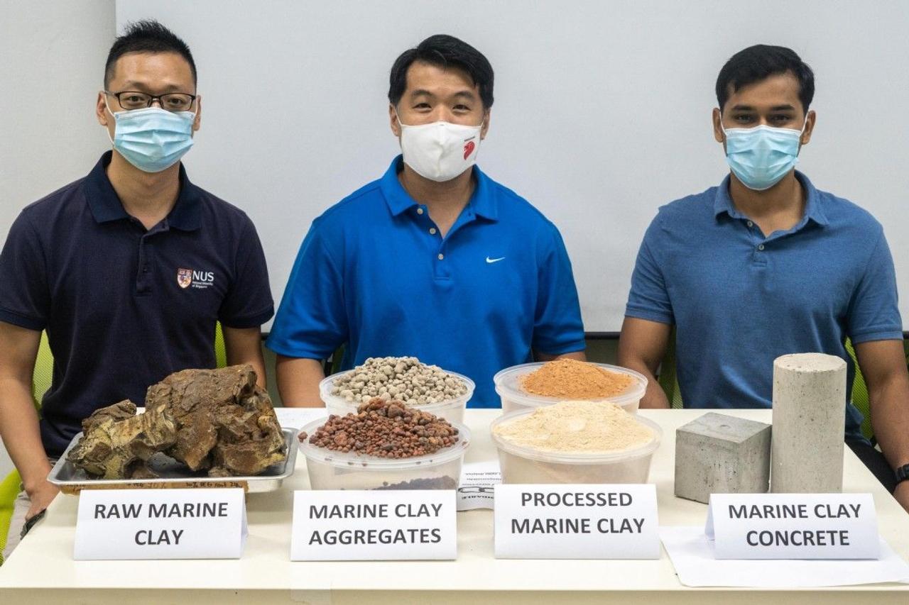 Исследователи из Сингапура разработали более прочный и экологичный бетон содержащий глину вместо песка