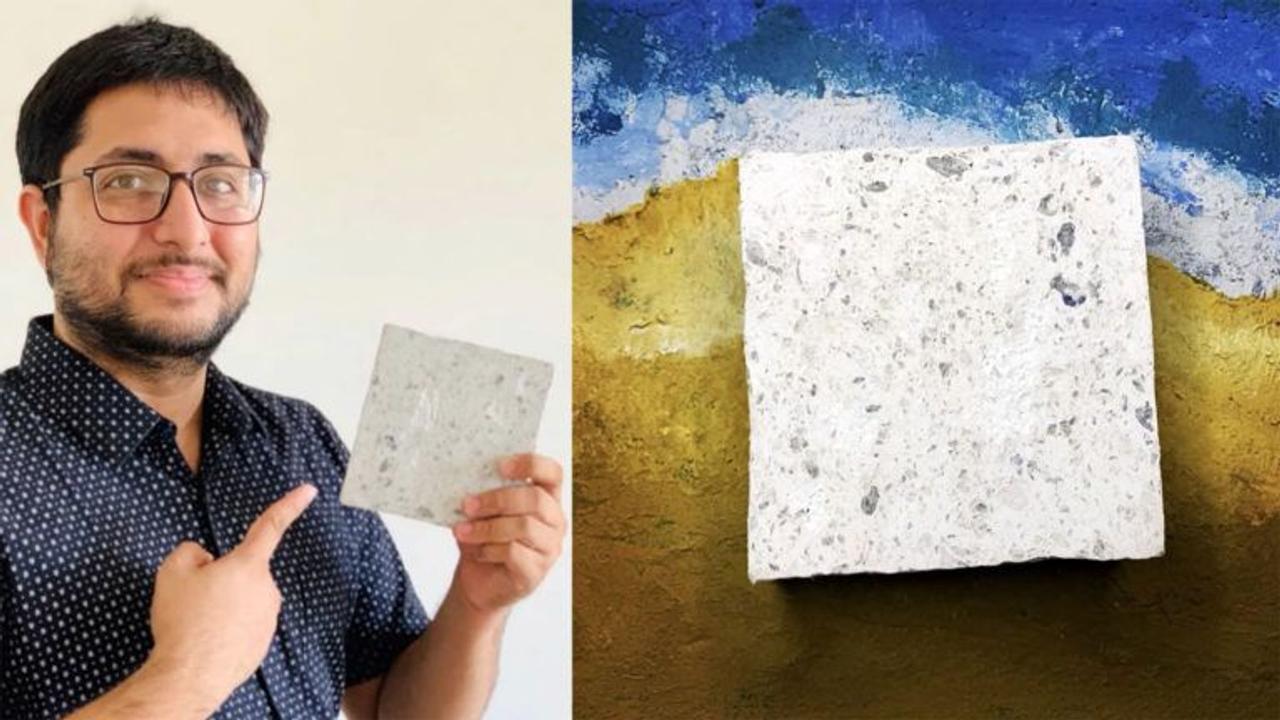 Молодой изобретатель перерабатывает использованные маски для лица и бумажные отходы в экологически чистые кирпичи