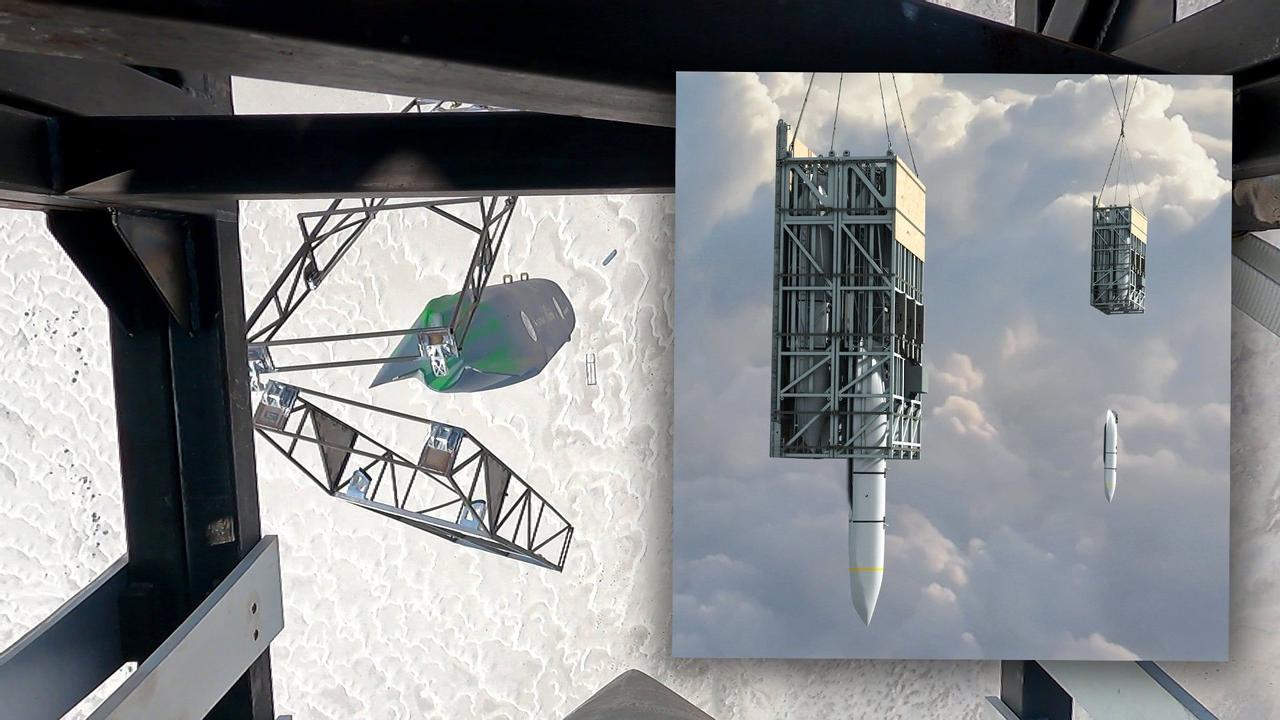 Американцы продемонстрировали систему запуска крылатых ракет-невидимок Rapid Dragon «на поддонах»