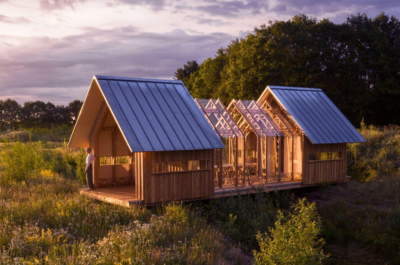 Универсальный дом Cabin Anna меняет конфигурации кабины в зависимости от погодных условий