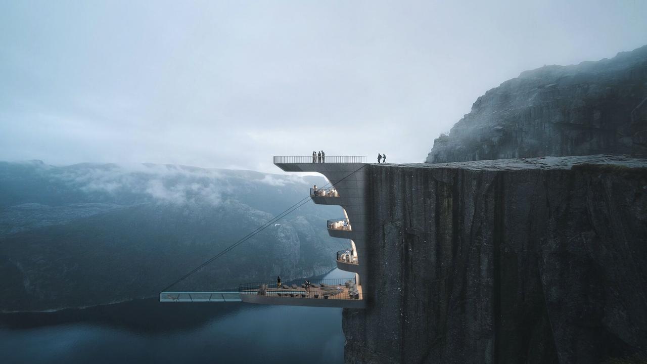 Бутик-отель Cliff, подвешенный на скале, место уединения и силы