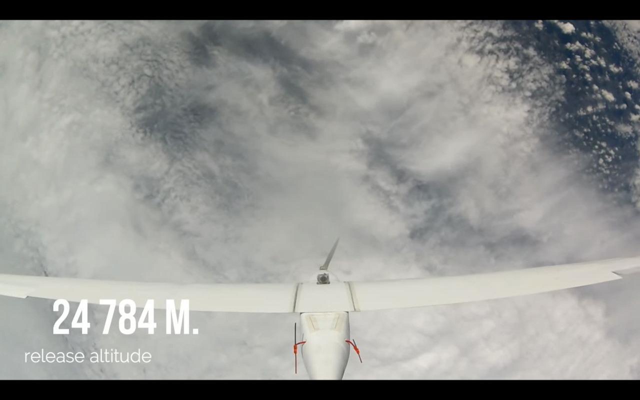 Беспилотник польских разработчиков смог подняться на высоту почти 25 000 метра над Землей