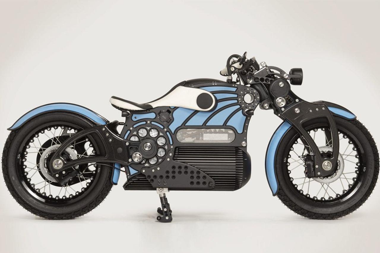 Curtiss Motorcycles создал полностью электрический круизный мотцикл One с безупречным дизайном