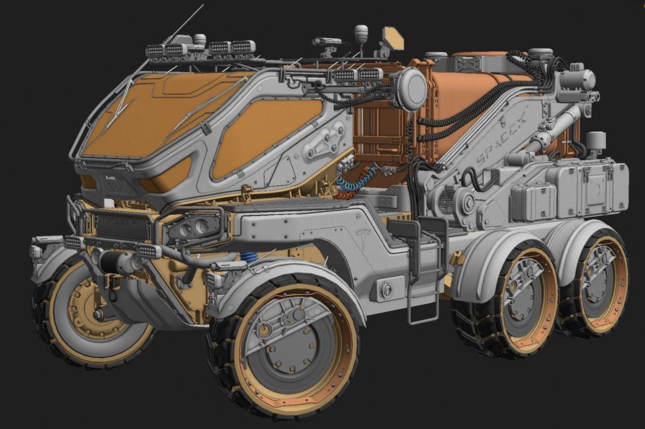 Модульный вездеход D25 Modular Rover разработан для исследовательских и разведывательных миссий на Марсе