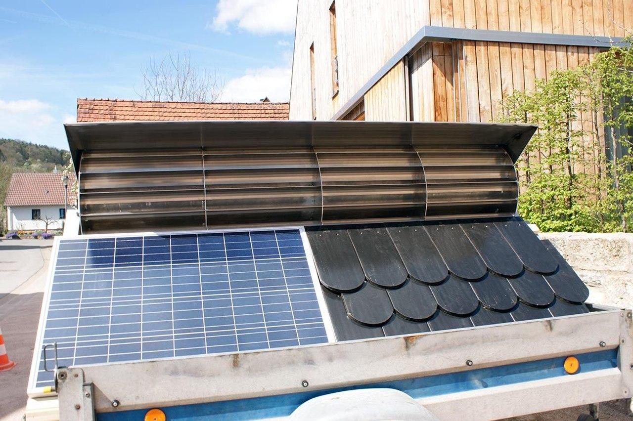 Солнечно-ветряная электростанция для плоских крыш