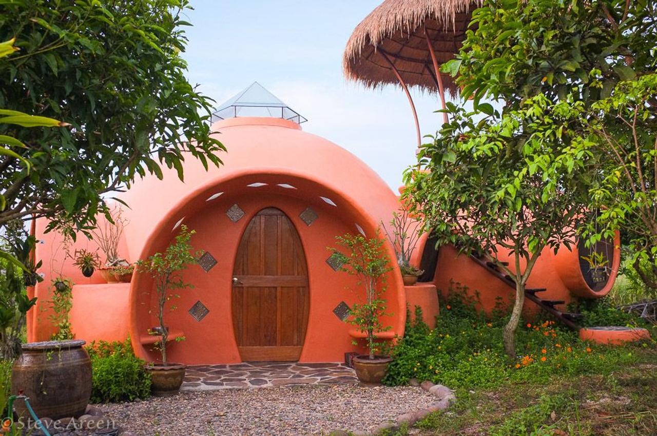 Купольный эко - дом AirCrete из «воздухобетона» водонепроницаем, не гниет и устойчив к стихийным бедствиям
