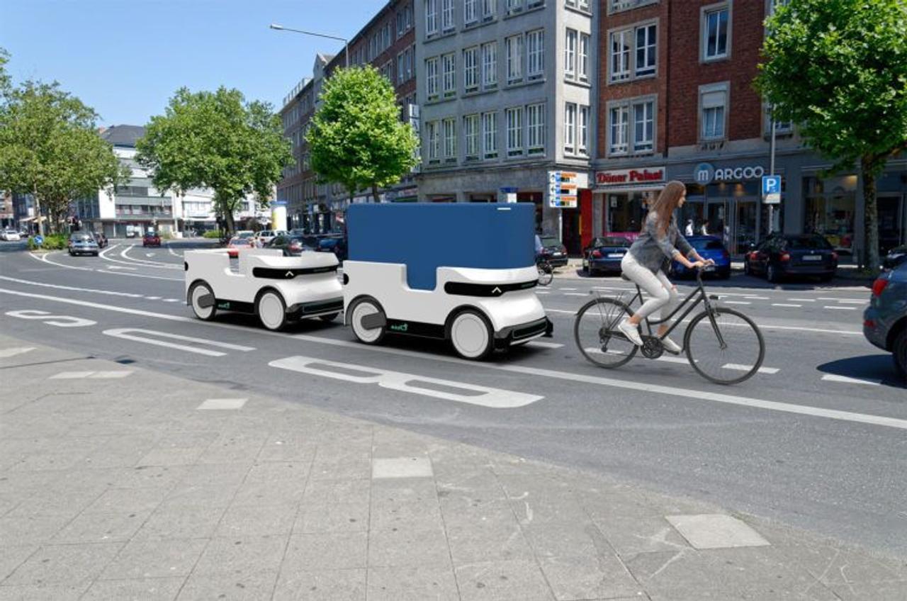 Самоходный прицеп с электрическим приводом для велосипеда позволяет перевозить большие грузы