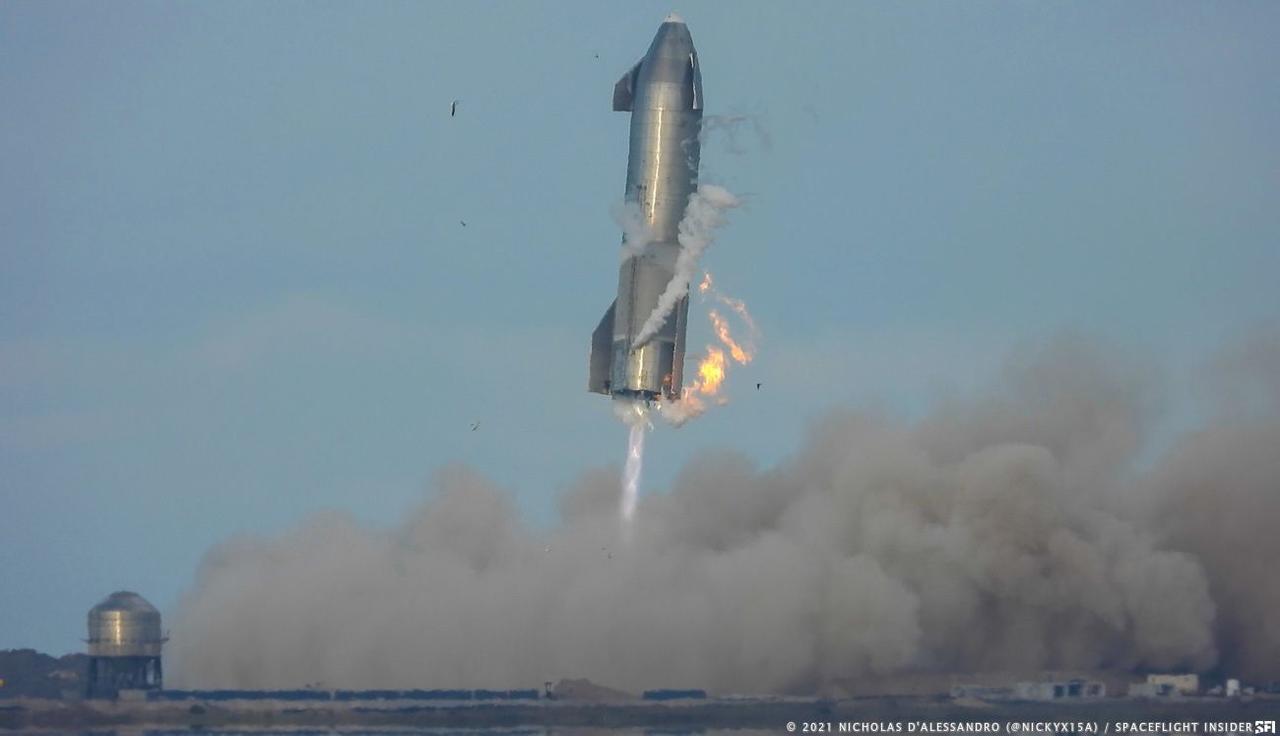 Очередной прототип космического корабля Starship SN11 опять взорвался при посадке