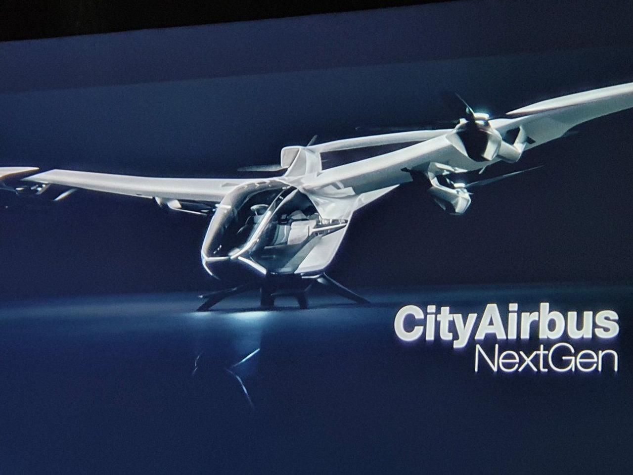 Airbus создает новое поколение аэротакси CityAirbus NextGen дли использование в городской среде