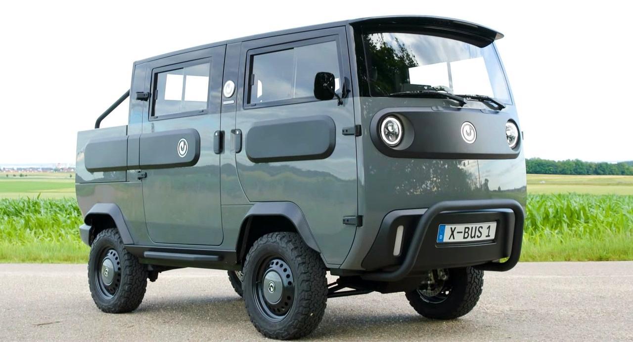 Концепция будущего - электрический модульный автомобиль Xbus типа Лего