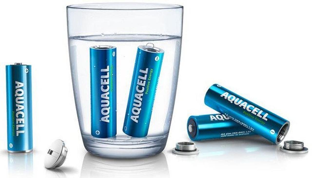 Aquacell - экологическая батарейка заряжается от воды