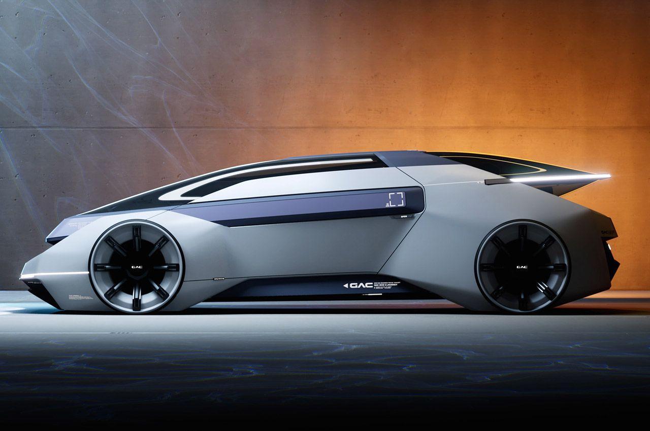 Концепция автономного автомобиля будущего GAC 2030 U, который будет работать на экологически чистой энергии