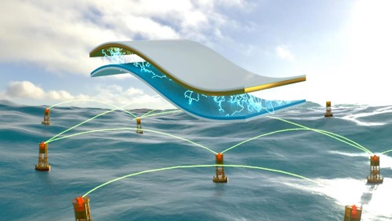Трибоэлектрические наногенераторы, извлекают энергию из океанских волн
