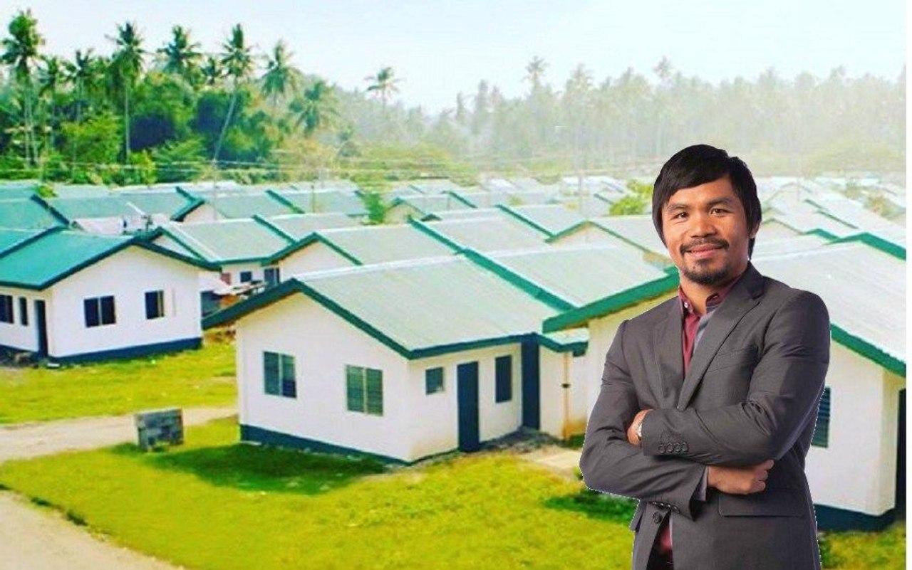 Чемпион мира по боксу Мэнни Пакьяо строит дома для бедных жителей родного поселка