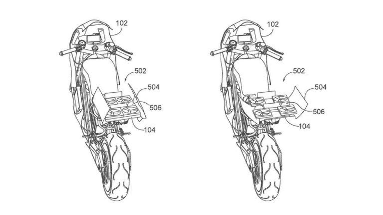 Honda разрабатывает электрический мотоцикл со встроенным автономным дроном