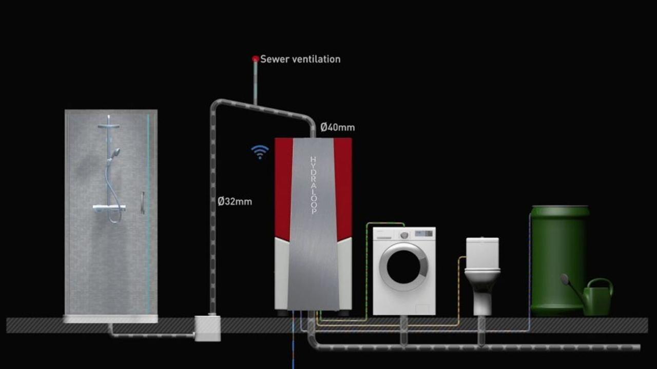 Компактная система рециркуляции воды Hydraloop поможет сэкономить 95% воды использующейся в доме