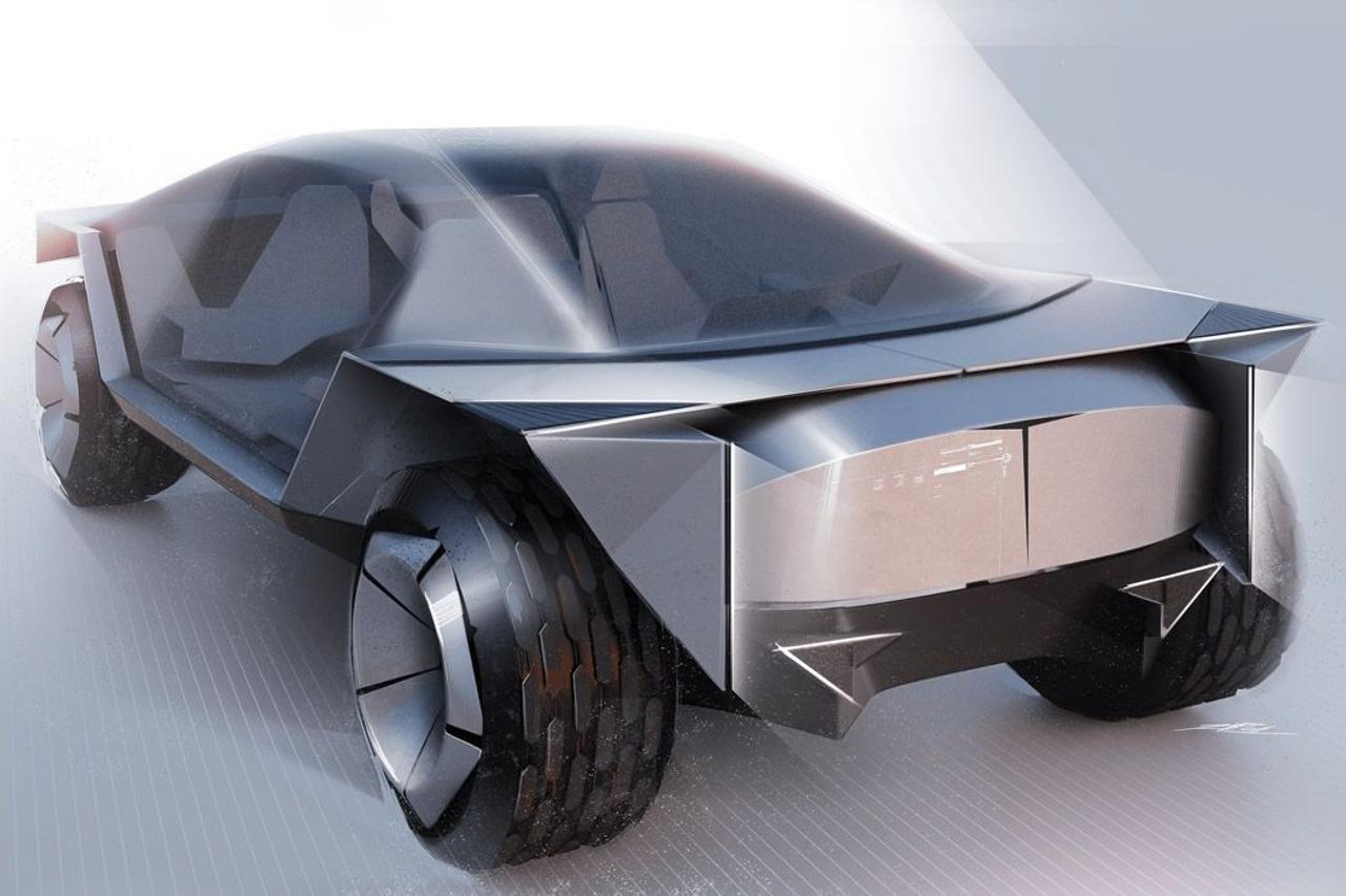 Tesla Origami - фантастическая смесь Cybertruck и марсохода NASA
