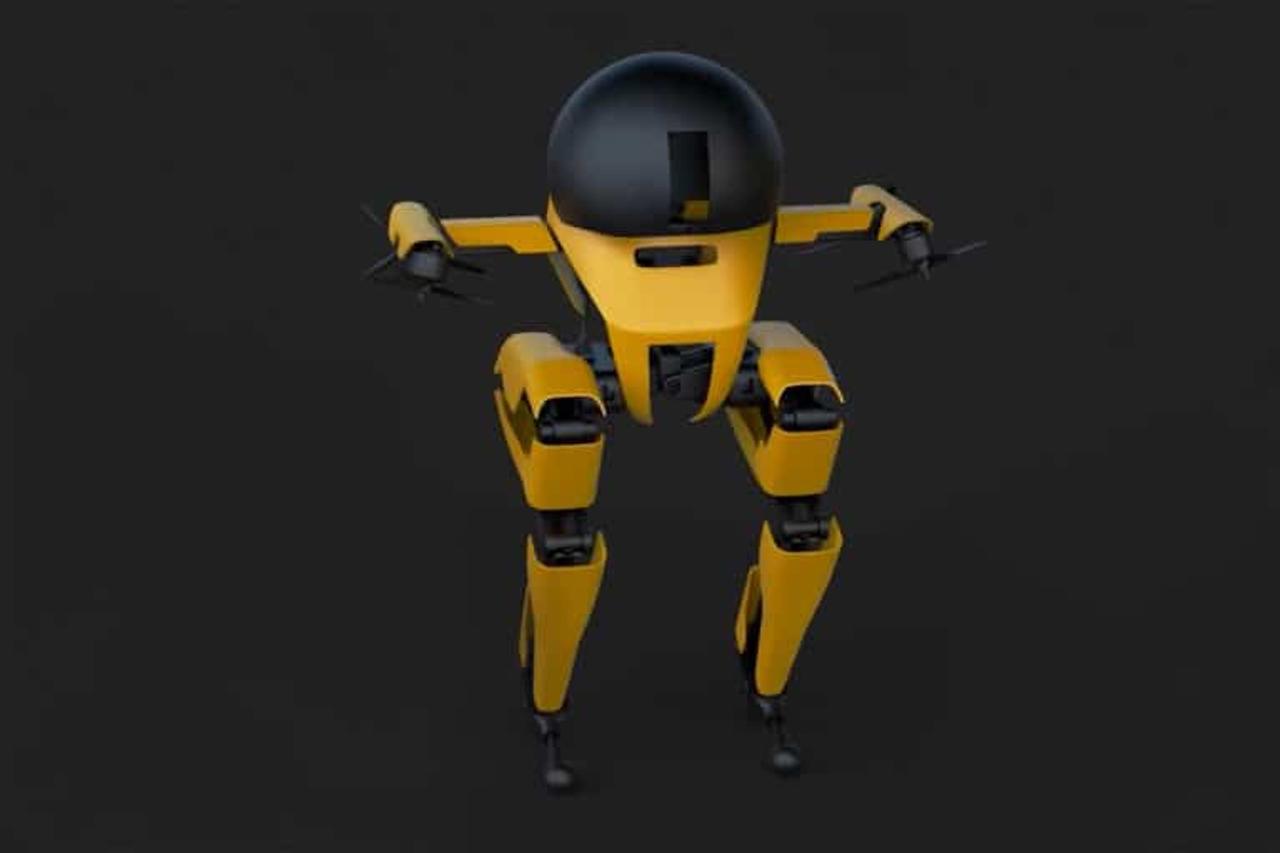Двуногий робот Леонардо может летать, ходить и кататься на скейтборде
